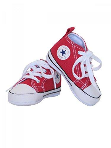 Converse , Scarpine Prima Infanzia Bambino, Rosso (Rosso), 3 UK
