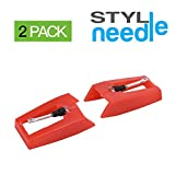 Stylineedle Pack of 2 Diamond Tip Needle for Turntables