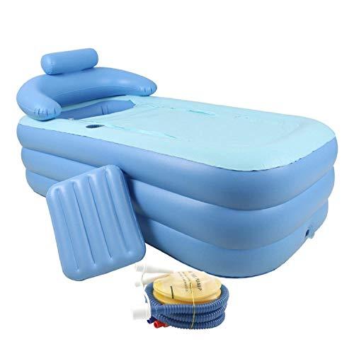 gemeinsa bañera hinchable plástico bañera plegable plegable beweglich Inflatable Bathtub Relax Piscina con bomba de aire almohada cervical y adultos PVC Plástico