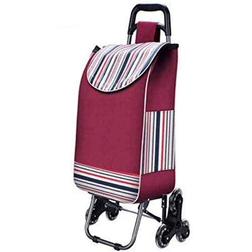 Self-loading Wagon Small Wagon Wagon Climb Up The Stairs And Fold The Wagon Together. Foldable Shopping Cart,Pink