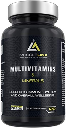 Multivitamins & Minerals by Musclelinx 120 Tablets