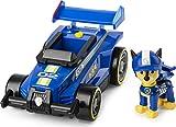 Paw Patrol 6058584 Ready, Race, Rescue Chase's Race & Go Deluxe Vehículo con Sonidos, para niños Mayores de 3 años, Gris