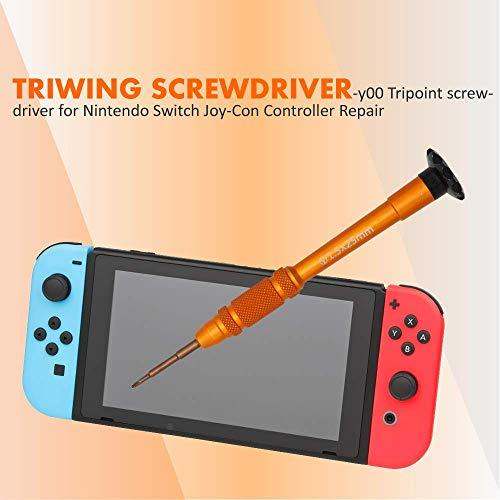 TECKMAN Nintendo Switch Triwing Screwdriver, 1.5mm Y00 Tripoint Screwdriver for Nintendo Switch Joy-Con Controller Repair