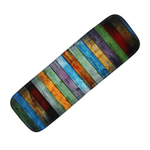 VORCOOL 5pcs Treppen-Teppich Anti-Rutsch Stufenmatten Treppenstufen Matten mit Klebeband und Rubber Backing (Streifen)