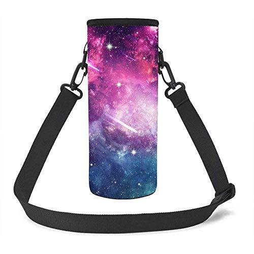 UOIMAG - Portabidones para botellas de agua con aislamiento para espacio exterior, color negro