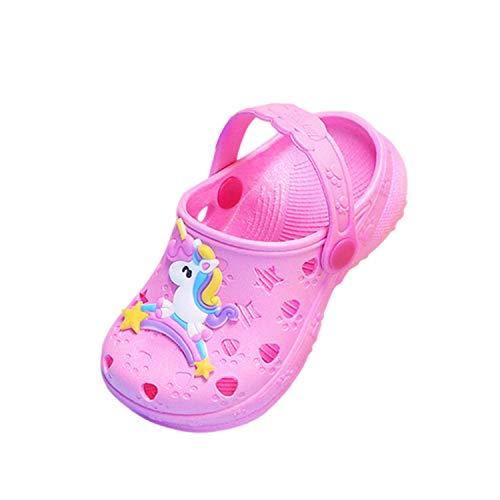 Coralup Zapatos de jardín para niños pequeños con diseño de unicornio, sandalias de playa de dinosaurios, cómodas, ligeras, antideslizantes, para niñas y niños de 33,5 a 32,5 años, color, talla 30 EU