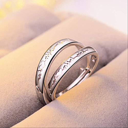 IWINO verstelbare paar Zirkoon verlovingsring voor damesmode zilveren trouwring set ringen