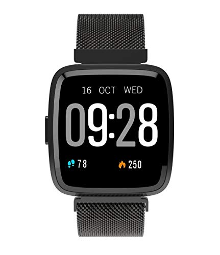 CORSECA Fittex Health and Fitness Smart Watch with Multi Functional Touchscreen Message Push Pedometer BP and Heart Rate Monitor