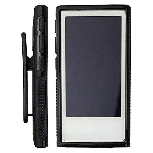 CHRISTY HARRELL Funda de TPU Suave con función Atril para Apple iPod Nano 7 de Chrissy Harrel, Negro