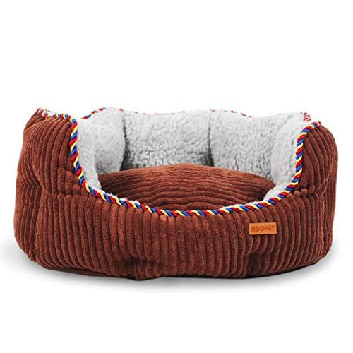 Q-HL Cama para Perros Estera extraíble y Lavable Grande (Color : Brown, Size : XXL(115 * 100 * 20cm))
