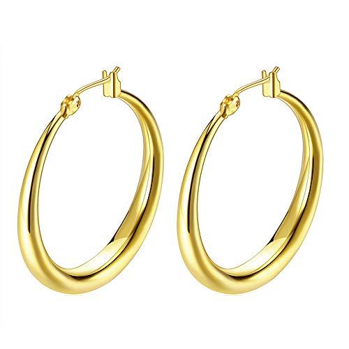 Rounded Hoop Earrings by Gslaoz