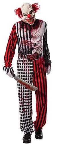 Rubie s Horrorclown Costume di Carnevale, da Adulto, con Licenza Ufficiale di Halloween, Taglia Unica