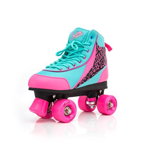 Luscious Skates Retro Disco Rollschuhe Kinder Summer Days EU 41 (schwarz pink blau)