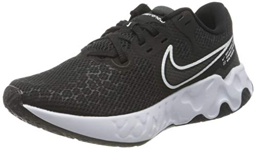 Nike WMNS Renew Ride 2, Chaussure de Course Femme, Black White DK Smoke Grey, 35.5 EU
