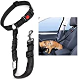 Headrest Dog Car Seat Belt Adjustable with Elastic Bungee Buffer Durable Headrest Pet