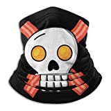 Eggs Bacon Skull Crossbones Microfiber Neck Warmer Scarf Gaiter Headwear Face Mask Black