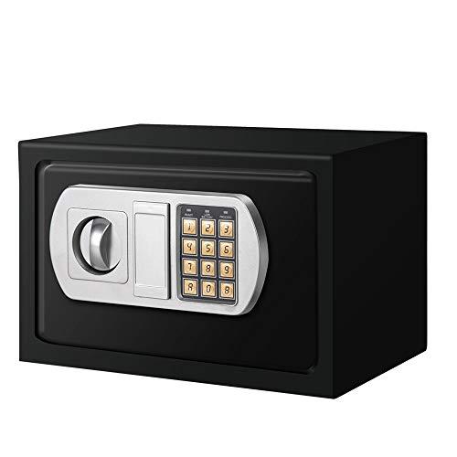 Arebos Caja fuerte electrónica de pared con cierre de doble perno | incluye material de montaje | cerradura de combinación electrónica y dos llaves de emergencia