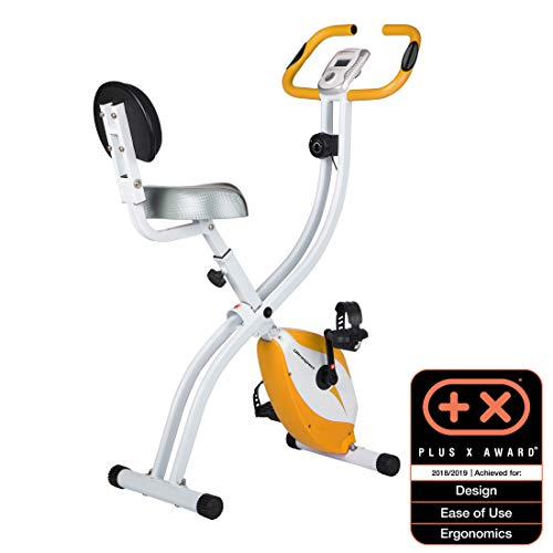 Ultrasport F-Bike Home Trainer 150/200B with hand pulse sensors, with backrest (F-Bike 200B) and without backrest (F-Bike 150), foldable