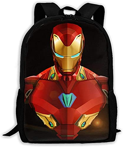 Iron Man - Mochila escolar para niños, diseño de superhéroe con dibujos animados