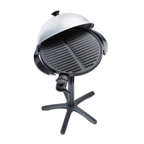 Steba VG250 BBQ-Grill VG 250 | Große Grillplatte mit 40 cm Durchmesser | stufenlose Temperaturregelung | Low-Fat: Bratflüssigkeit läuft in eine Auffangschale ab | 1800 Watt