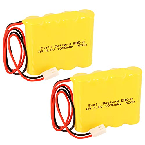 (2-Pack) Emergency/Exit Lighting Battery Fits and Replaces Dual Lite 12790 Dual Lite 012-0790 Dual Lite 12-0790 Dual Lite 12-790 Duallite 12 790 Duallite 12790 Kaufel 850.0060 AA/4 Kaufel 850.006