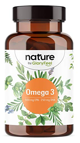 Omega 3 de Aceite de Pescado (2000 mg) - Máxima potencia con 1000 mg EPA y 500 mg DHA por 2 cápsulas -Destilado Molecularmente para mayor pureza - Fuente de Ácidos Grasos - 120 cápsulas blandas