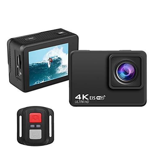 4K 60fps WiFi Cámara de acción Deportiva Videocámara Ultra HD a Prueba de Agua, Cámara de Video para Deportes al Aire Libre con Gran Angular de 170 Grados para Surf, Ciclismo, Paracaidismo