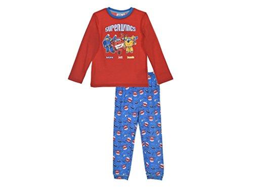 Super Wings Pijamas Boys (98 - Aproximadamente 2-3 años, Rojo)