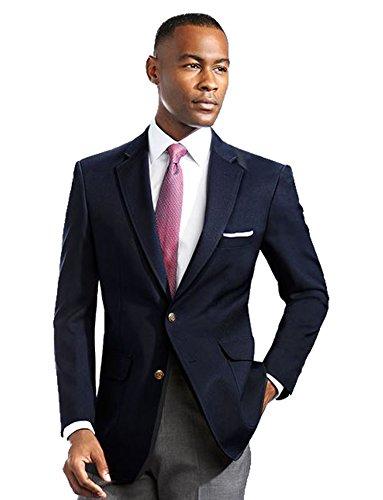 남자의 우아한 현대적인 2 버튼 노치 옷깃 블레이저 - 많은 색상 (56 정규 네이비)