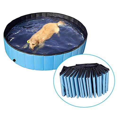 IvyH Piscina Perros y Gatos Bañera Plegable Bañera de Mascotas Baño Portátil para Animales Adecuado para Interior Exterior 80 * 20cm