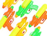 Water Gun Shooters Pack of 12 Water Blaster Squirt Guns Assorted Multi Colored Durable Double Barreled Water Shooters Bulk Outdoor Summer Beach Pool Party Fun