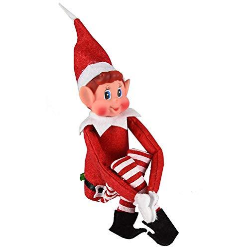 GLOW Wholesale- Figura Divertida de Elfos Que se comportan Mal con Cuerpo Suave y Cara de Vinilo, Color Rosso (13056)