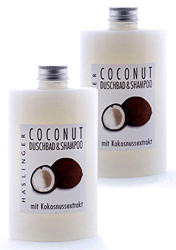 Lashuma Tropic SPA Coconut Shampoo - Duschbad mit Kokosnussextrakt, Pflegedusche Kokos im 2er Set 2x 200 ml