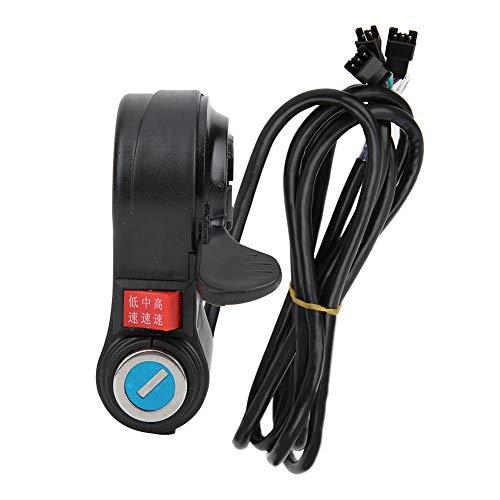 Redxiao Interruptor de Manillar, Interruptor de Encendido de Bicicleta eléctrica, Pantalla de Voltaje Digital Accesorio de Bicicleta eléctrica para Ciclismo