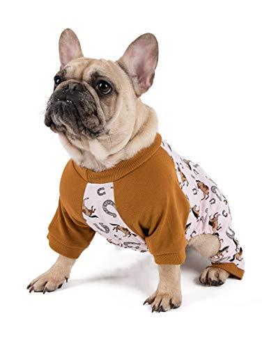 Leveret Hunde-Pyjama, passender Weihnachtspyjama für Hunde, 100 % Baumwolle, Größe XS bis XXL