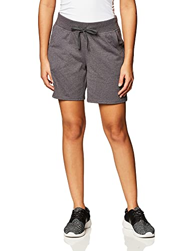 Hanes Women's Jersey Short, Charcoal Heather, Large