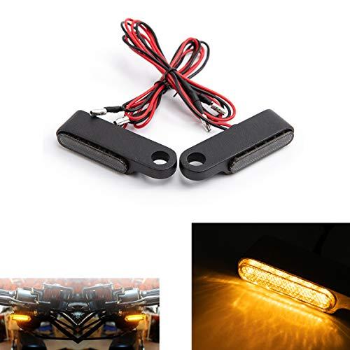 Mini luz de señal de giro de motocicleta LED que fluye intermitente lámpara intermitente para motocicleta Scooter Cafe Race (Negro)