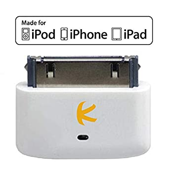 KOKKIA i10s  Luxurious White    Tiny Bluetooth iPod Transmitter for iPod/iPhone/iPad Compatible with Apple AirPods Plug and Play.