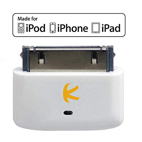 KOKKIA i10s (Luxurious White) : Tiny Bluetooth iPod Transmitter for iPod/iPhone/iPad. Works Well with Apple AirPods. Plug and Play.