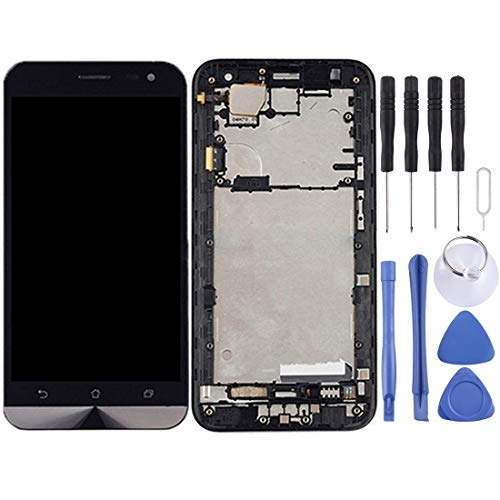 un known Accesorios Electrónicos Pantalla LCD y Montaje Completo de digitalizador con Marco para ASUS ZENFONE 2 Laser ZE500KL ZE500KG Z00ED Accesorio (Color : Black)