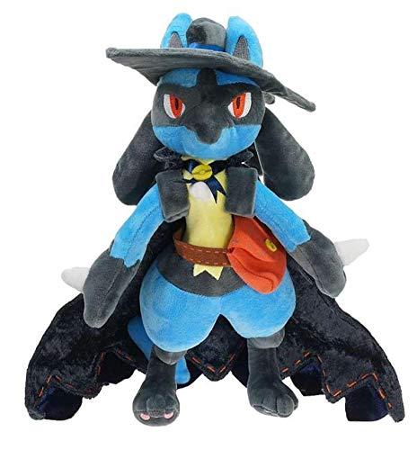 yunding Pokemon Lucario Peluches 32Cm, Lindo Muñeco De Peluche Disfraz De Halloween Coosplay Regalos De Cumpleaños Y Vacaciones para Niños