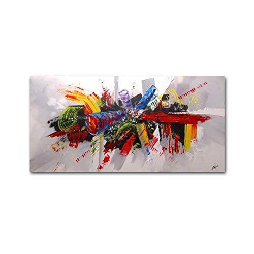 La Vie Cuadro Abstracto Pintado a Mano Sobre Lienzo 60 * 120cm Pintura al óleo Decorativa Moderna Decoración de Pared por Hogar Salon Oficina Café Hotel Club Regalo sin Marco