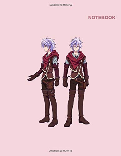 Shiro & Izuna No Game No Life Notebook For School: Classic Lined pages, 110 White Pager, 8.5 x 11, Shiro No Game No Life Zero Pink Notebook Cover.