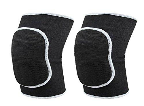 TININNA Unisex Breathable Volleyball Knieschoner Kniestütze Knieorthese Kniebandage Kniebandagen Knieschützer schwarz EINWEG Verpackung