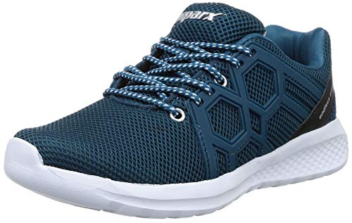 Sparx Men T. Blue Silver Sneakers-10 UK (44 2/3 EU) (SX0421G_TBSL0010)