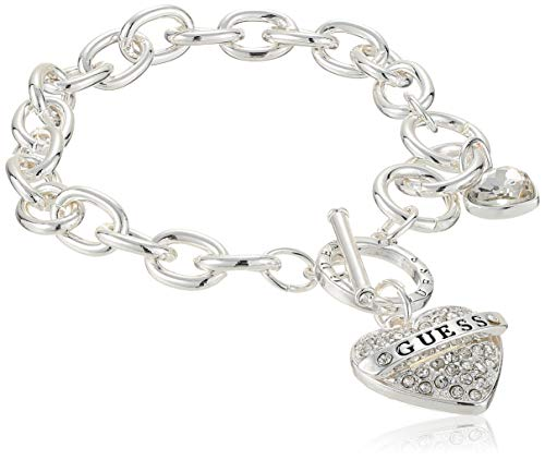 GUESS Women's Toggle Charm Bracelet, Silver, One Size