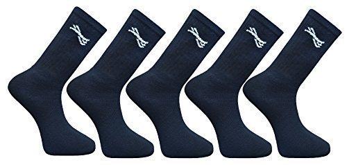 Hari Deals Hommes Uni Sport Chaussettes 5 10 15 20 Paires - Noir 5 Paires, S, Small