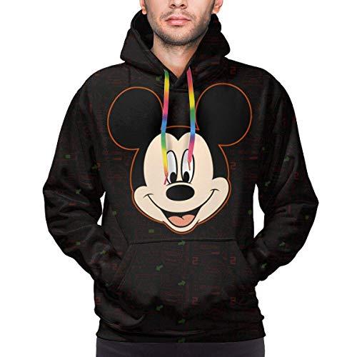 Bgejkos Mickey Minnie Herren Hoodie mit Fronttasche Sweatshirts 3D Print Kordelzug Pullover S-XXXL