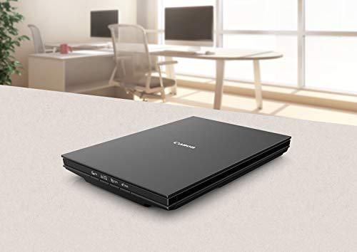 Canon LiDE 300 Scanner CanoScan Flachbettscanner DIN A4 (2.400 x 2.400 dpi, 4 Scantasten, Stromversorgung über USB, ca. 10 s/ Farbseite 300 dpi, 48 Bit interne Farbtiefe), schwarz