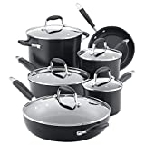 Anolon Advanced Hard Anodized Nonstick Cookware Pots and Pans Set, 11 Piece, Onyx